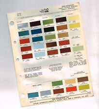 1975 Lincoln Mercury (with Capri) Color Chip Paint Sample Brochure/Chart:Cougar,