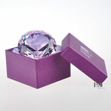 Crystal Purple Glass Diamond Paperweight Jewel Collectibles Wedding Gift 60mm