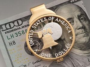 Liberty Bell Money Clip, Hand Cut United States Dollar, ( # IKBWM )