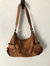 FOSSIL Brown Carmel Leather Satchel Shoulder Handbag -Great Pre-Owned Condition!