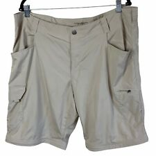 Columbia Men's Beige Omni-Shade Sun Protection Hiking Shorts Size 40