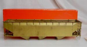 Precision Scale #15012 Brass O Gauge 70 Ton Steel Hopper 3 Bay Train Car - 83546