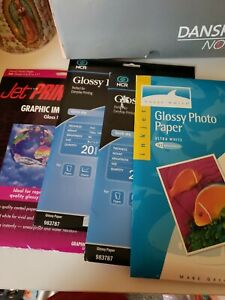 Lot of 3 NCR 20 Sheets/pack 8.5x11 Glossy Inkjet Photo Paper Quick Dry