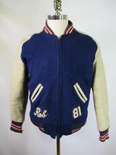 F5651 Men's Coleman Knitting Mills Full-Zip Letterman Varsity Jacket  Size 36