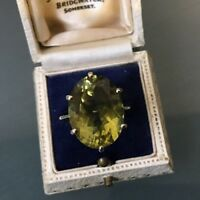 Women's 9ct Gold Ring Peridot Stone Size T Weight 7.7g Stamped Quality Ring