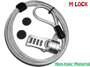 5pcs Laptop Notebook 4-dail Combination Lock Cable HP TOSHIBA LENOVO DELL