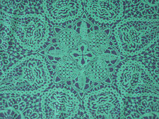 "LIBERTY OF LONDON TANA LAWN FABRIC  ""Nicholas James"" 1 METRE EMERALD/BLUE"