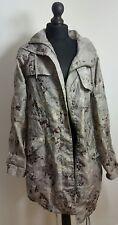 TOPSHOP Womens Jacket Size 8 UK 36 EUR 4 US Camouflage Lightweight Hooded Zip Up