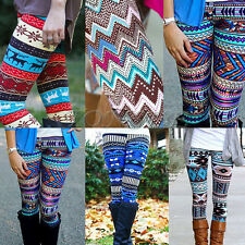 Casual Women Lady Skinny Geometric Print Stretchy Jegging Pants Slim Leggings