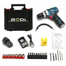 12V Cordless Drill Electric Screwdriver Driver Set Kit 18 Torque Settings