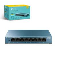 TP-Link LS108G 8-Port Network Switch Desktop/Wallmount Gigabit Ethernet Splitter