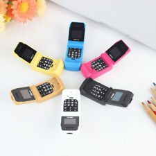 "Mini Flip Mobile Phone LONG-CZ J9 0.66"" Smallest Cell Phone Bluetooth Wireless"