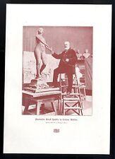 Professor Ernst Herter in seinem Atelier Der deutsche Bildhauer Kunstdruck 1906