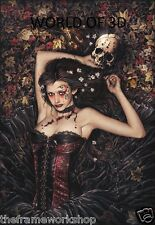 VICTORIA FRANCES IRIA GIRL WITH SKULL - 3D CULT FANTASY PICTURE 300mm x 400mm
