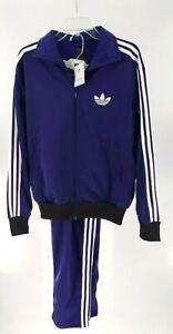 2010 ADIDAS Adicolor Firebird Purple TRACKSUIT sz M Unisex Zip Jacket Pants NEW