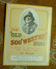 "Old sou'wester ""RUM etichette vintage-Magee, Marshall & Co Ltd Bolton gestire"