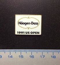 Pin Lapel Badge Häagen-Dazs 1991 US Open Tennis. Metal Enamelled. Rare !