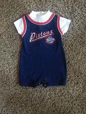Detroit Pistons Nba Basketball One Pc Jersey By Nba 12 Months