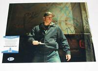 ACTOR MATT DAMON SIGNED 'THE DEPARTED' 11x14 MOVIE PHOTO BECKETT COA 1 SCORSESE