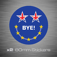 2 x I Voted Leave The EU Brexit Stickers Vinyl Decals - 80mm x 80mm - EU0002