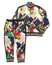 Polo Ralph Lauren Men's White Ships Log Print Graphic Track Jacket & Jogger Pant