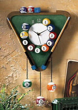 Billiards Wall Clock Hanging Clock Snooker Home Bar Billiard Room Decoration NEW