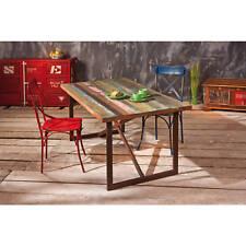 Unikat Esstisch Küchentisch shabby chic Metalltisch rostig bunt Recycling Holz
