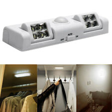 8 LED Cabinet Light Auto PIR Night Wardrobe Cupboard Closet Motion Sensor Lamp