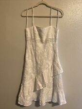 RALPH LAUREN Black Label Linen White Tier Crochet Dress 6 Beach Wedding
