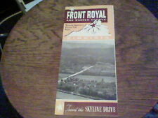 1953 Front Royal and Warren County travel the Skyline Drive VA brochure  bf18a