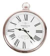 Wall Clock Copper Pocket Watch Kensington Station Roman Numerals Large 42cm New