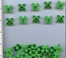 LEGO x 35 Bright Green Plant Flower 2 x 2 Leaves Angular NEW Basic Set Friends