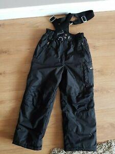 Girls Black Salopettes/ Ski Trousers 9-10 Years