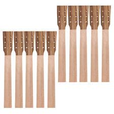 Acoustic Guitar Neck Ukulele Neck for Zebrawood Head Veneer 10 Pcs