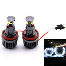 2X 40W CREE H8 LED Angel Eyes Halo Ring Marker Light Bulbs Xenon White 6000K BMW