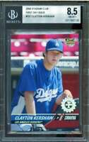 Clayton Kershaw Rookie Card 2008 Stadium Club First Day Issue #107 BGS 8.5