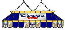 Coors Original Banquet Beer Billiard Stained Glass Mirror Pool Table Light Lamp