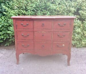 Vintage Chinese Painted Chest of Drawers