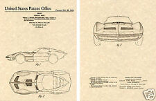 Corvette MAKO SHARK Patent Art Print READY TO FRAME!!!!! 1966 US gm car