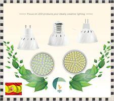 Bombilla de led tipo halógeno lámpara SMD2835 luz luces bulb MR16 GU5.3 12v E27