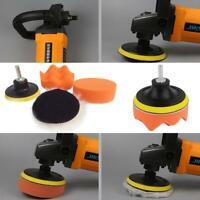 NEW 5 Pcs 8cm Buffing Pad Auto Car Polishing Wheel Kit Buffer + Drill Adapter