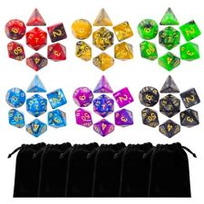 Lot of 42 DnD Dungeons And Dragons Dice 6 Sets with Pouch D&D Fast Shipping