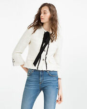 Zara Button Cotton Coats & Jackets for Women