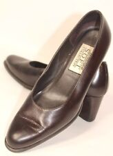 Worthington Womens Soft Collection Alice Brown Slip On Pump Leather Shoes Sz 6M