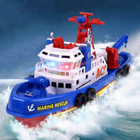 Flashing Electric Fire Boat Baby Boy Bath Toy LED Light Music Kids LrJNE Gut