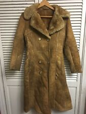 Vtg Sawyer Napa Abercrombie Fitch Genuine Shearling Coat USA Womens 8 For Repair