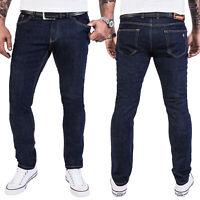 Rock Creek Herren Jeans Hose Slim Fit Dunkelblau Rinsed Washed Jeanshose RC-2138