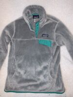 Patagonia Womens Re-Tool Snap-T Fleece Grey Pullover Polartec Jacket Size Small