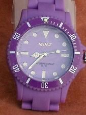 OVP NEO-T Lila Zifferblatt & Lila Gummi Bereitstellung Armband Unisex Toy Watch 50m