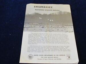 1966 Shiawassee National Wildlife Refuge Leaflet w/Map Department Interior Q495